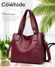 Load image into Gallery viewer, Genuine Leather Women Handbags Designer Shoulder Large Casual zipper Tote bag