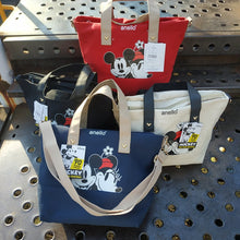 Load image into Gallery viewer, Disney Handbag Canvas Large Minnie print cartoon mouse ladies shoulder Tote New