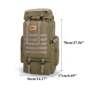 100L Large Military Camouflage Travel Rucksack Tactical Backpack Outdoor Hiking Bag