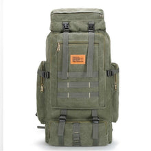 Load image into Gallery viewer, 100L Large Military Camouflage Travel Rucksack Tactical Backpack Outdoor Hiking Bag