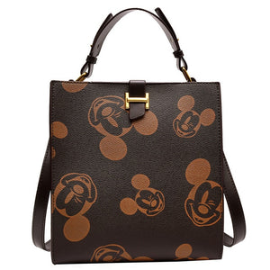 New Disney Women Bag Leather Backpack Mickey Mouse Handbag Tote Messenger Purse
