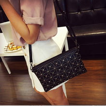 Load image into Gallery viewer, New leather Clutch Purse Women's Rivet Crossbody Diamonds Handbags Totes Small
