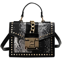 Load image into Gallery viewer, Fashion Alligator Women Shoulder Bags Chains Handbags Casual Pu Leather Small Brown