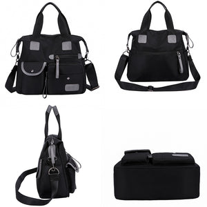 Shoulder Nylon Handbag Women Travel Bag Backpack Purse Black Fashion Purse Tote