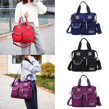 Load image into Gallery viewer, Shoulder Nylon Handbag Women Travel Bag Backpack Purse Black Fashion Purse Tote