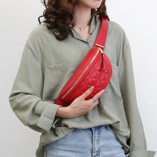 Load image into Gallery viewer, Women PU Leather Fanny Packs Solid Small Fashion Waist Packs Phone chest Bag