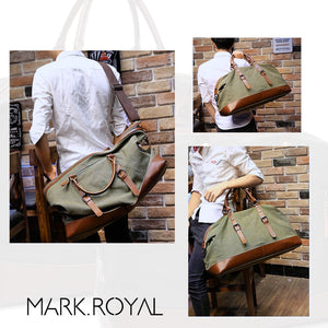 Water Resistant Men Duffel Canvas Bag Overnight Travel Large Luggage Sports