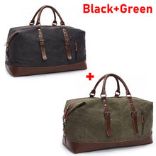 Load image into Gallery viewer, Water Resistant Men Duffel Canvas Bag Overnight Travel Large Luggage Sports