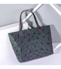 Load image into Gallery viewer, Leather Geometric Handbags Large Women's Purse Shoulder Messenger Bags Casual