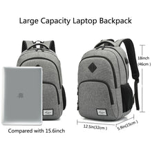 "Load image into Gallery viewer, Water Resistant 15.6"" Laptop Backpack Heavy-duty Bookbag School Travel Bag New"