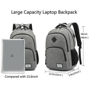 "15.6"" Laptop Backpack Water Resistant School Travel Bag Oxford Bookbag Unisex"