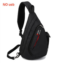 "Load image into Gallery viewer, Shoulder Backpack Bags10.5"" iPad USB Women Crossbody Anti theft Chest Bag large"