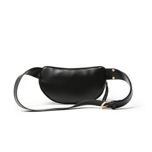 Women PU Leather Fanny Packs Solid Small Fashion Waist Packs Phone chest Bag