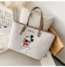 Load image into Gallery viewer, Disney Canvas Handbags Women's Large Shoulder Crossbody bags Tote Cartoon Mickey