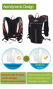 2L MTB Hydration Ultralight Cycling Backpack Breathable Sport Riding Water Bag