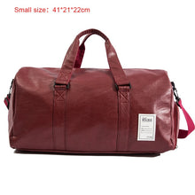 Load image into Gallery viewer, Men Travel Bag Shoe Waterproof Duffle Sports Gym Sports Leather Overnight