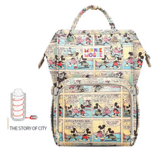 Load image into Gallery viewer, Disney Baby Diaper Bags USB waterproof Maternity Nappy Stroller Bag Large  Backpack