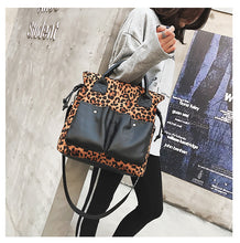 Load image into Gallery viewer, Oversized Leather Handbags Fashion Leopard Print Bags Women's Large Shoulder