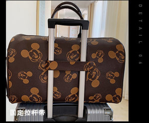 Disney's Leather Luggage Duffle Bags Waterproof Travel Handbags Trolley Carry On large