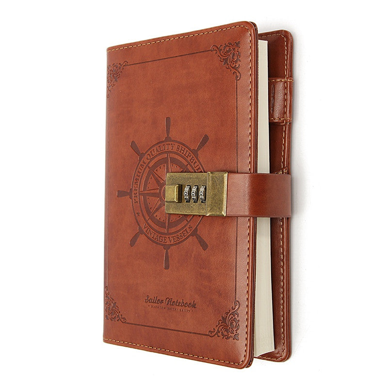 All Aboard Brown Leather Journal Diary - Driftly,  - Driftly