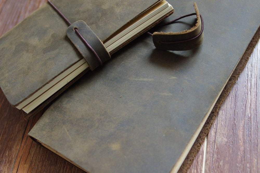 Rugged Leather Traveler's Notebook - Driftly,  - Driftly
