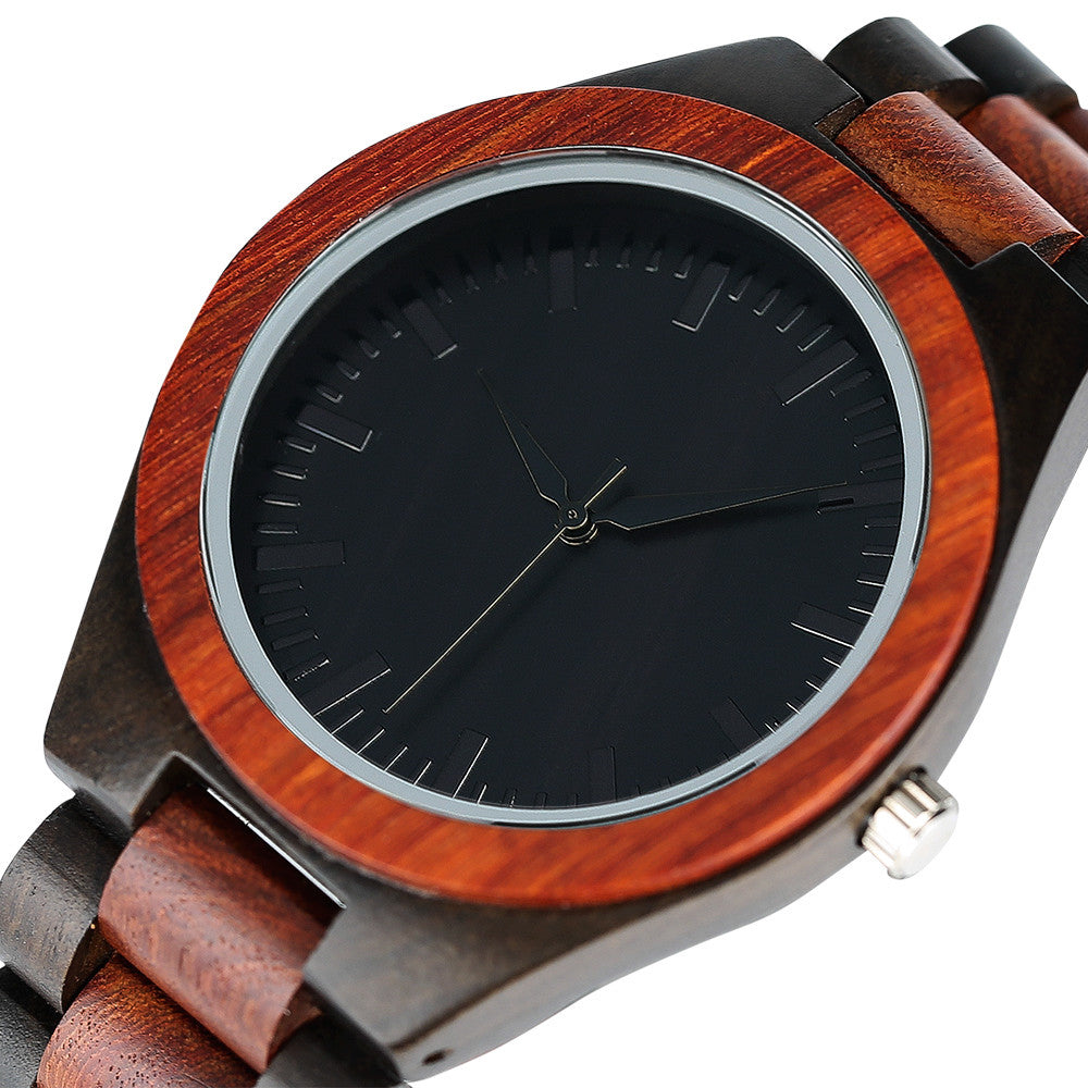 Two Toned Redwood Watch - Driftly,  - Driftly