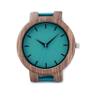 Turquoise Simplicity Wood Watch - Driftly,  - Driftly