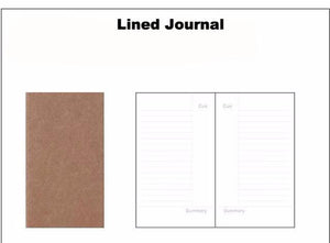 Traveler's Notebook Refill Pages - Driftly,  - Driftly