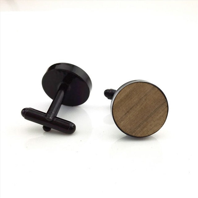 CL-004 New Fashion Anchor Wood Cufflink Silver Cuff link Walnut Cuffs Handicraft art Custom Anchor Cufflinks - Driftly,  - Driftly