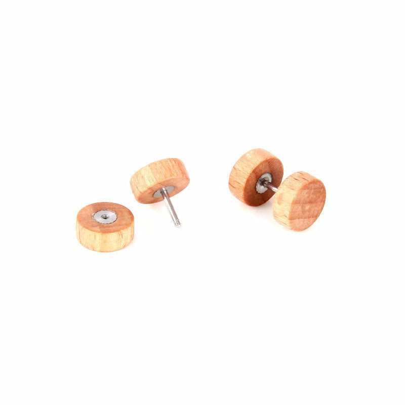 Men's Wooden Stud Earrings - Driftly,  - Driftly