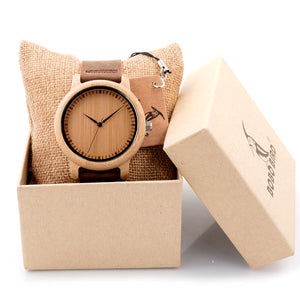 Luxury Brand BOBO BIRD Men Bamboo Wood Watches Men and Women Quartz Clock Fashion Casual Leather Strap Wrist Watch Male Relogio - Driftly,  - Driftly
