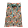 Color Pop Trees on Light Grey Bistro Apron