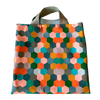 Kaleidoscope Simple Tote Leather Handles