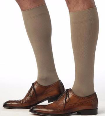 Men's Midtown Microfiber Calf Sock 15-20 mmHg Khaki