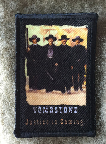 Tombstone Movie Poster Hook and Loop Patch