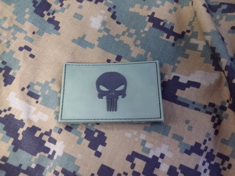 Punisher Skull OD Green PVC Patch