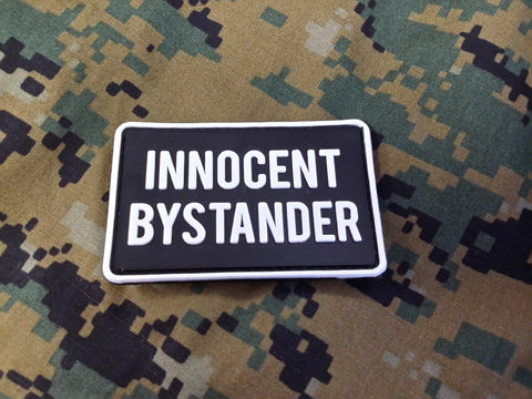 Innocent Bystander Black PVC Patch