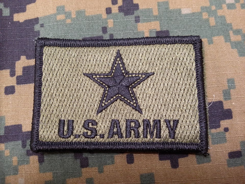 US Army OD Green Hook and Loop Patch