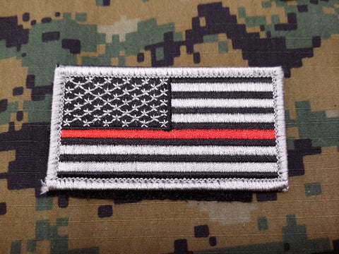 Thin Red Line American Flag Hook and Loop Patch