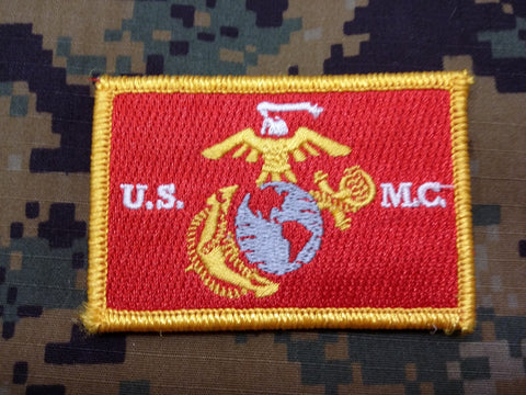 USMC Color Hook and Loop Patch
