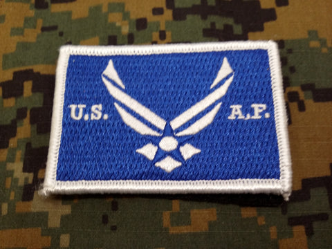 US Air Force Color Hook and Loop Patch