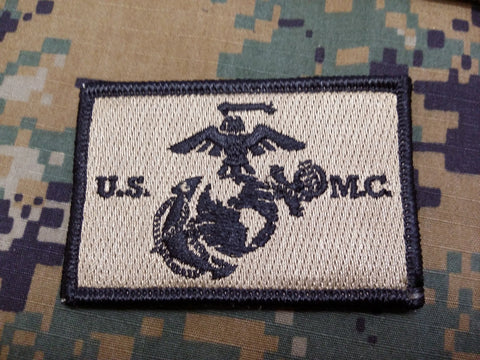 USMC FDE w/Black Outline Hook and Loop Patch