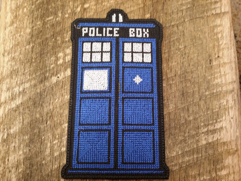 Doctor Who TARDIS Crossstitched Patch