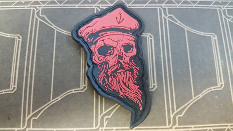 Skull Sailor Red PVC Patch