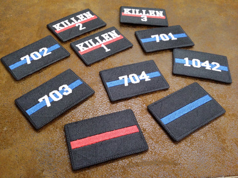 Thin Blue/Red Line Customizable Patch
