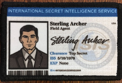 Sterling Archer ISIS ID Badge Hook and Loop Patch