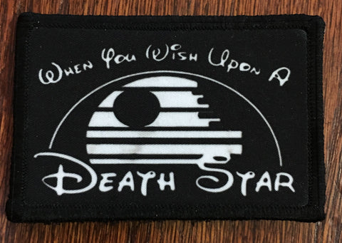 Wish Upon a Death Star Hook and Loop Patch