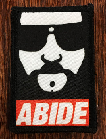 The Dude Abides Hook and Loop Patch