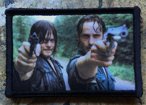 Walking Dead Rick and Daryl Hook and Loop Patch