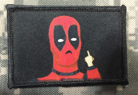 Deadpool Tiny Middle Finger Patch
